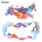 Design Map of Russia — Stock Vector