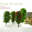 Snow At Home — Stock Photo