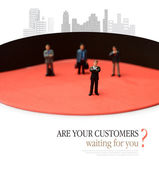 Customers Waiting — Stock Photo
