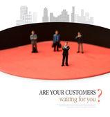 Customers Waiting — Stock Photo