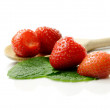 Stock Photo: Strawberries Macro