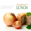 Stock Photo: Ploughman's Lunch Macro