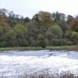 Panorama of weir on River Trent at Ratcliffe-On-Soar Power Stati — Stock Photo