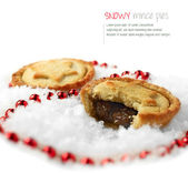 Snowy Mince Pies 2 — Stock Photo
