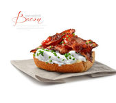 Open Bacon Sandwich — Stock Photo