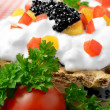 Cheese Canape Macro — Stockfoto