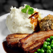 Pork Bellies And Mash — Stock Photo