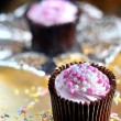 Stock Photo: Strawberry Cupcakes 3