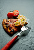 Pepperoni Pizza Meal — Stock Photo