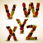 Autumn Vector alphabet letters — Stock Vector #12058970