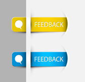 Feedback Labels, Stickers on the edge of the (web) page — Stock Vector