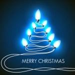 Vector fondo con árbol de Navidad y las luces — Vector de stock