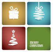 矢量圣诞装饰从白皮书条纹 — 图库矢量图片