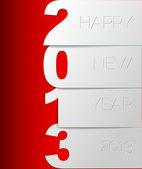 Carta di vettore felice nuovo anno 2013 — Vettoriale Stock