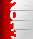 Happy New Year 2013 vector card — ストックベクタ