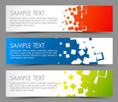 Eenvoudige kleurrijke horizontale banners — Stockvector