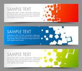 Jednoduché barevné horizontální nápisy — Stock vektor