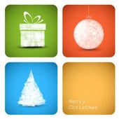 Vector christmas decoration card — Stock Vector