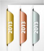 Vector metalic 2013 Labels or Stickers — Stock Vector