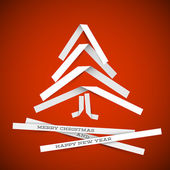 Simple vector paper christmas tree — Vector de stock