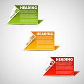 Un deux trois - options de papier de vecteur — Vecteur