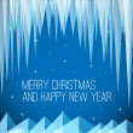 Retro minimalistic Christmas card — Stock Vector