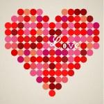 Vector retro heart — Stock Vector #18464199