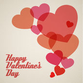 Vector retro valentines card — Stock Vector