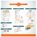 set grande vettore di infografica elemento — Vettoriale Stock