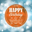 Happy birthday retro vector illustration — Stock Vector #25249643