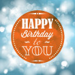 Happy birthday retro vector illustration - Stock Vector