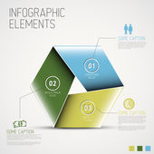 Abstract shape with Infographic — Stock Vector