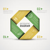 Abstract shape with Infographic — Cтоковый вектор