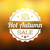Autumn sale vector background — Stock Vector
