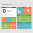 Vector flat user interface infographic — Stock Vector #27346853