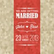Vector Wedding invitation — Stockvectorbeeld