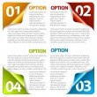 Set of Colorful Vector Sample option stickers — Stock Vector