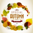 Autumn abstract floral background — Imagen vectorial