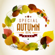 Autumn abstract floral background — Image vectorielle