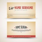 Vector old-style retro vintage business card template — Stock Vector
