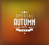 Autumn sale vector background — Stock Vector