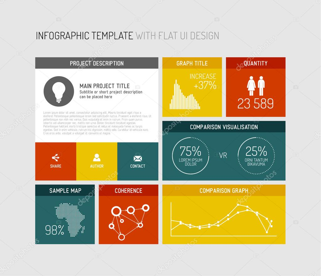 Flat design infographic download