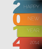 Happy New Year 2014 vector card — Stock Vector