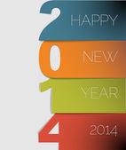 Happy New Year 2014 vector card — Stock Vector