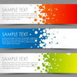 Simple colorful horizontal banners - with circle motive — Stock Vector