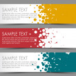 Simple colorful horizontal banners — Imagen vectorial