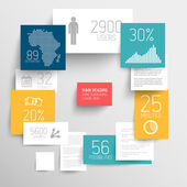 Vector abstract rectangles infographic template — Stock Vector