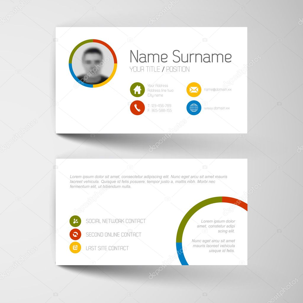 Modern business card template — Stock Vector © orson