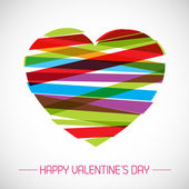 Vector valentine card with heart — Vettoriale Stock