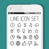 Modern icon collection for smart phone applications — Stock Vector